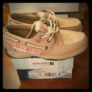 NIB Sperry Top-sider girl's sz 13 leather shoe